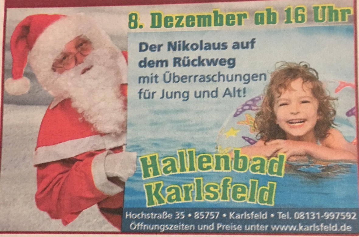 Hallenbad Karlsfeld: Nikolaus kommt