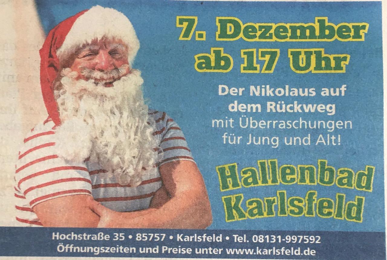Der Nikolaus im Hallenbad Karlsfeld