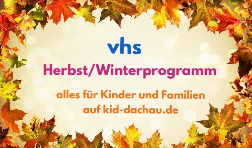 vhs Herbst/Winter-Programm