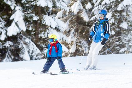 Schifahren am Monte Kienader