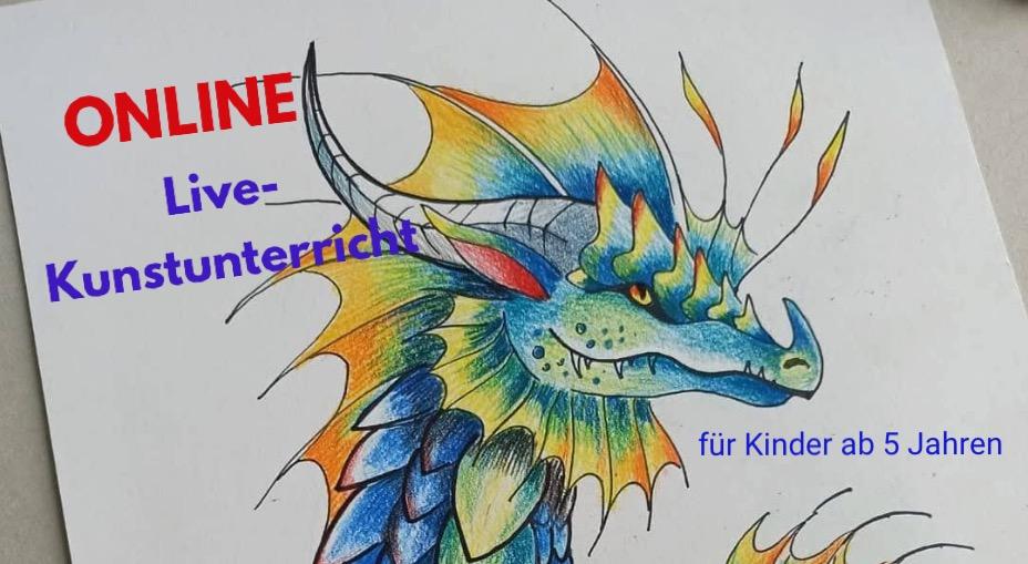 Online Live-Kunstunterricht oder Online Live-Grafik Design