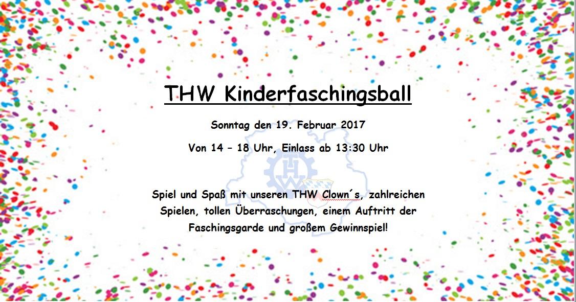 THW Kinderfaschingsball