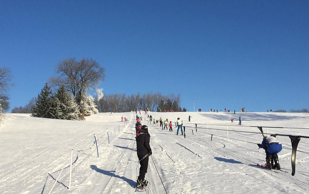 Skifahren am Monte Kienader