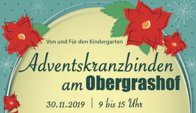 Adventskranzbinden am Obergrashof