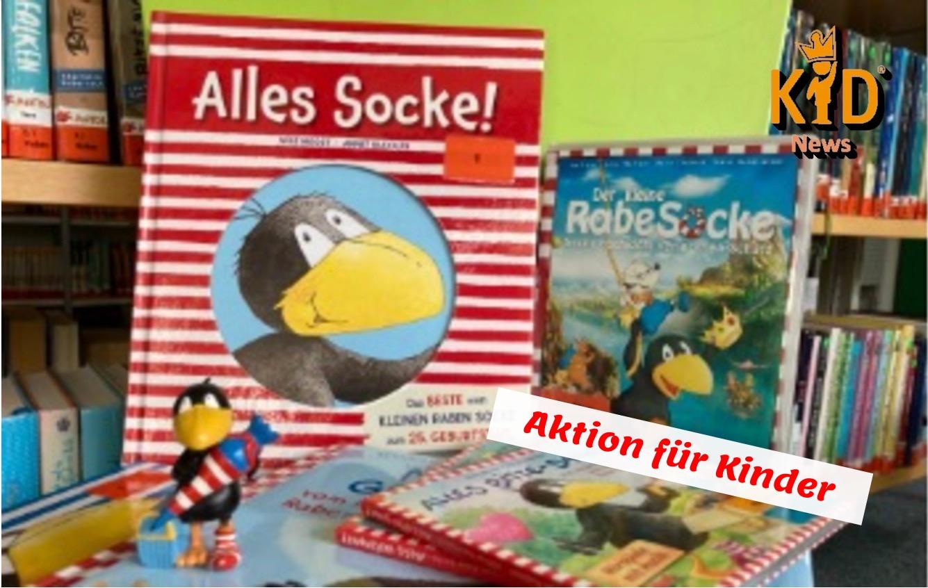 Aktion in der Stadtbücherei: Rabe Socke wird 25!